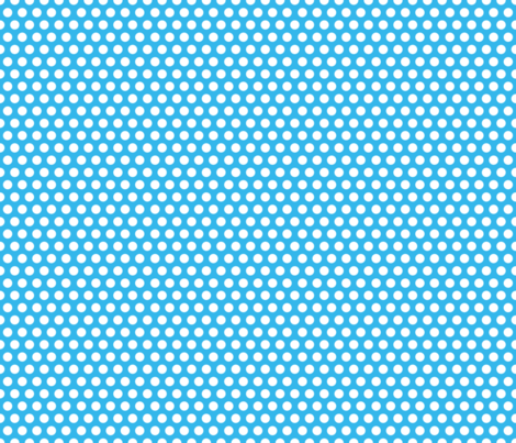 Blue Bright Dot / blue polka dot fabric by snapdragonandfinn on Spoonflower - custom fabric