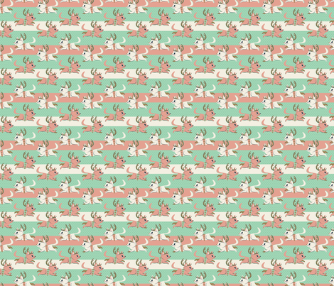 Candy Cane Cats (extra small) fabric by therewillbecute on Spoonflower - custom fabric