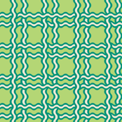 squiggle plaid - green