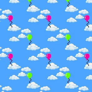 Pixel Clouds and Balloons