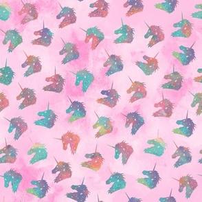 Rainbow Watercolor Unicorns Pin