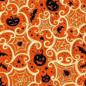 Spooky_Cobwebs_Cream_on_Orange