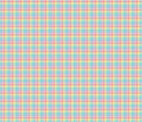 happy plaid no.5 XSM fabric by misstiina on Spoonflower - custom fabric