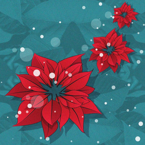 Poinsettias Christmas Flowers 1