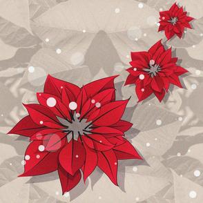 Poinsettias Christmas Flowers 02