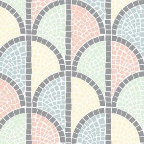 Roman Mosaic - Dark Pastels