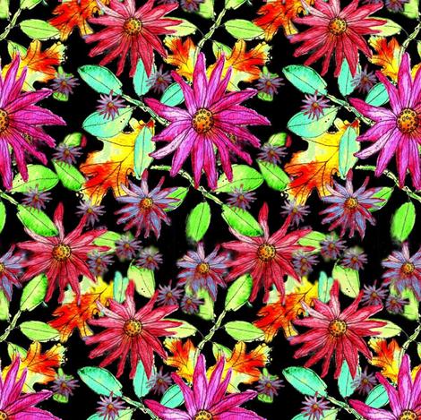nightgardenfloral fabric by marigoldpink on Spoonflower - custom fabric