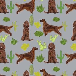 Irish Setter cactus desert southwest pet dog fabric grey