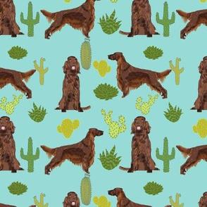 Irish Setter cactus desert southwest pet dog fabric 1