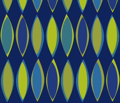 Pods Blue Green fabric by wren_leyland on Spoonflower - custom fabric