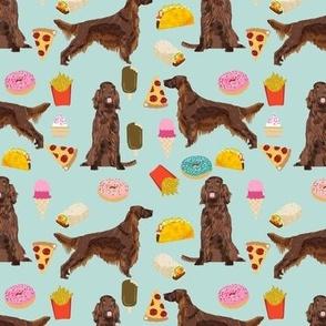 Irish Setter junk food pizza french fries dog fabric 1