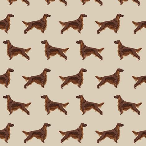 Irish Setter dog breed fabric pattern sand fabric by petfriendly on Spoonflower - custom fabric