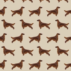 Irish Setter dog breed fabric pattern sand