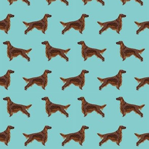 Irish Setter dog breed fabric pattern simple