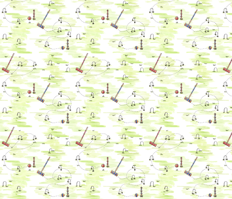 Croquet Everyday! fabric by rdewing on Spoonflower - custom fabric