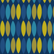 Mod leaves-blue and gold