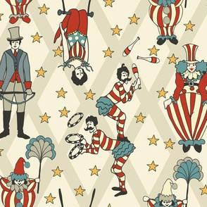 Vintage Circus Performers - Neutral
