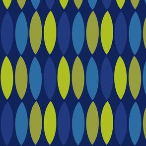Mod leaves-cobalt blue olive