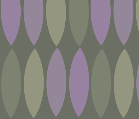 Mod leaves-orchid taupe fabric by wren_leyland on Spoonflower - custom fabric