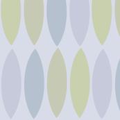 Mod lavender pastel leaf