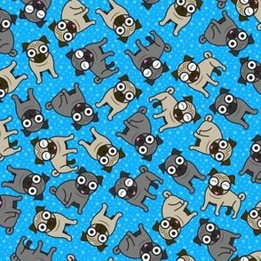 Pug-a-Dot (Blue Small)