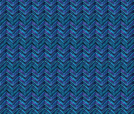 Chevron Ripple | Electric Lake fabric by bexdsgn on Spoonflower - custom fabric