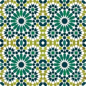 Moorish Moroccan Green Stars