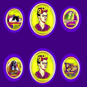 Frida Kahlo Cameo Eggplant