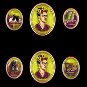 Frida Kahlo Cameo Black