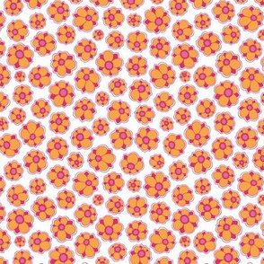 smallFlowers orange/pink small