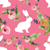 Pink Bunny Floral