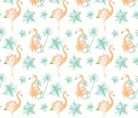 Rrbeach_flamingos_pinkgreen_repeat_2400_shop_preview