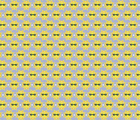 Cool Summertime Sunshine fabric by vickennobile on Spoonflower - custom fabric