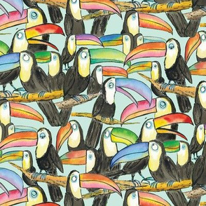 Toucan Party Aqua small