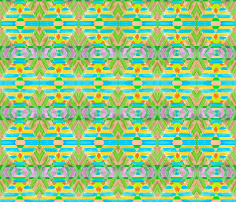 Boho _pattern green fabric by katawampus on Spoonflower - custom fabric