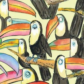 Large Toucan Party Yellow