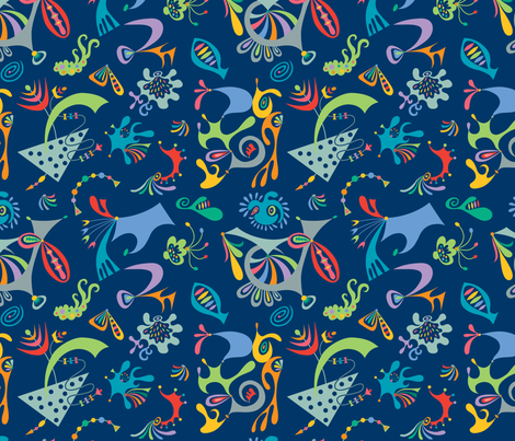 High Level navy fabric by andibird on Spoonflower - custom fabric