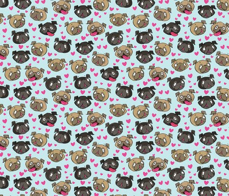 Fawn_black_pugs_pattern_repeattile-blue_shop_preview
