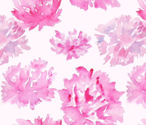 Pink Peonies fabric by beloved_co_ on Spoonflower - custom fabric