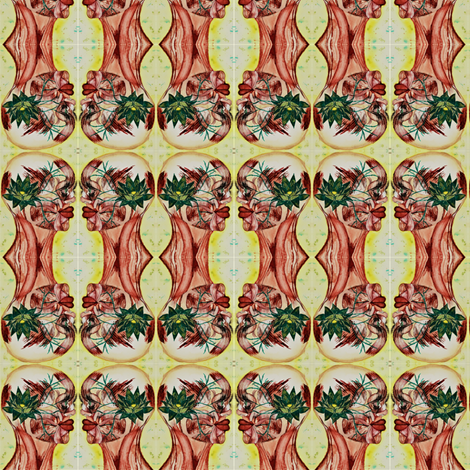 Lotus  fabric by the_human_collection_ on Spoonflower - custom fabric