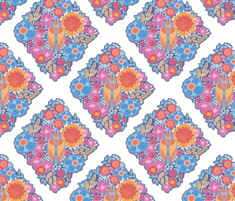 ramatuelle motif fabric by thelazygiraffe on Spoonflower - custom fabric