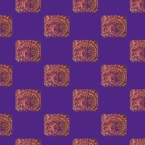 curledHoundBlockprintPurpleOnOrangeInKarkie-ch-ed