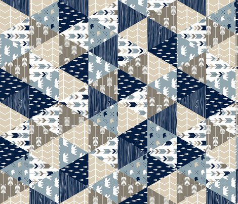 Rrrustic_woods_triange_quilt_top_bear_and_arrows_with_trees-01_copy_shop_preview