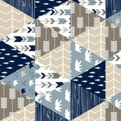 Rrrustic_woods_triange_quilt_top_bear_and_arrows_with_trees-01_copy_shop_thumb