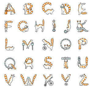 Cat circus alphabet large