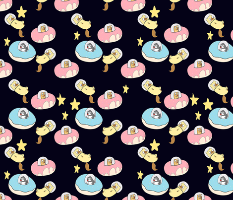 Kitties in space fabric how store spoonflower for Spaceman fabric