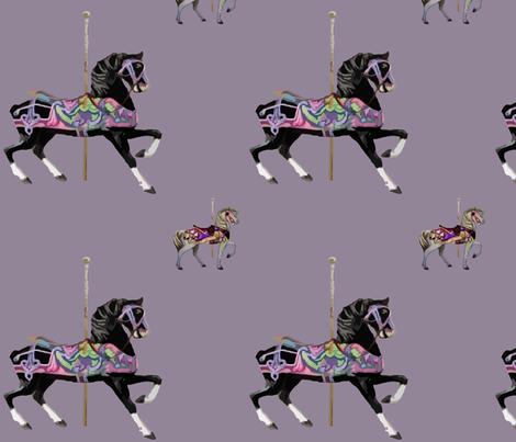 CarouselHorseLavender fabric by psweetsdesign on Spoonflower - custom fabric