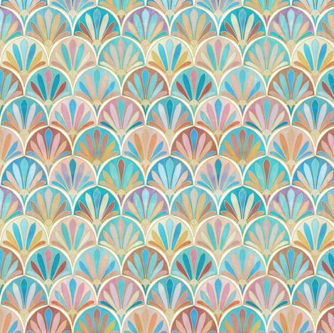 Vintage Twenties Art Deco Pattern extra small version fabric by micklyn on Spoonflower - custom fabric
