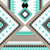 Ethnic and Geometric - Teal