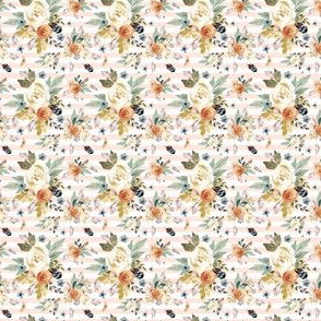 "1"" Western Autumn / More Florals / Pink Stripes"